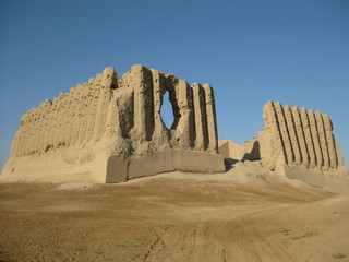 Mud brick ruins of Merv, Turkmenistan