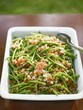 French bean salad with bacon