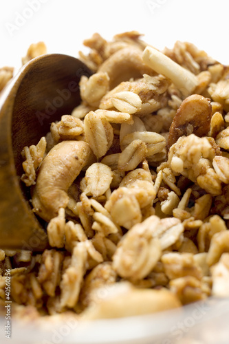 Crunchy muesli, close-up