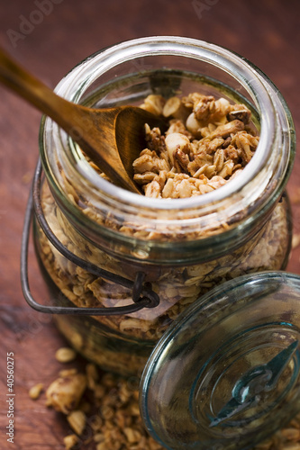 Muesli in a glass
