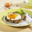 Wholegrain rye bread with quark and marmalade & boiled egg