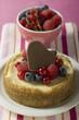 Mini-cheesecake with mixed berries