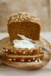 Wholemeal bread with soft cheese