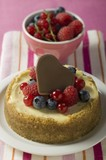 Mini-cheesecake with mixed berries