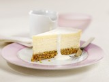 A piece of cheesecake