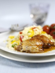 Lemon chicken with vegetable couscous