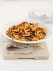 Pecorino tortellini with peppers