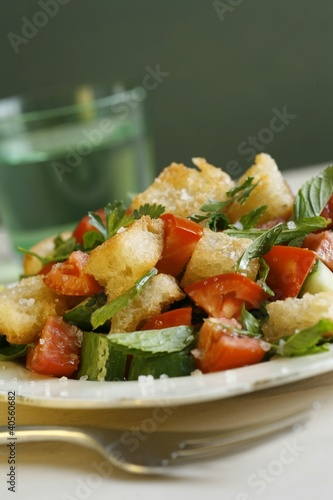 Fatush (Fried bread salad, Egypt)