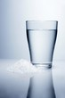 A glass of water and salt