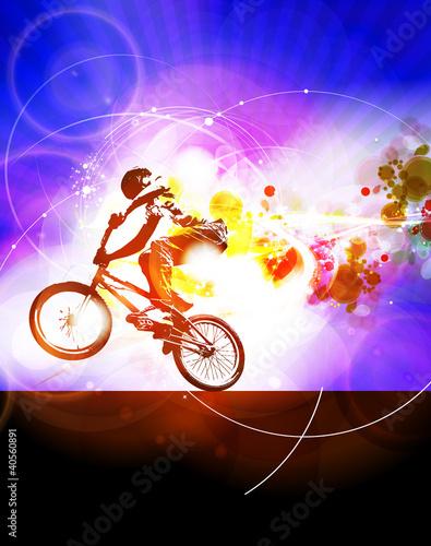 Illustration of BMX cyclist - 40560891