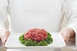 Mince with parsley on a platter