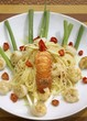 Bahian spaghetti with shrimps and spiny lobster