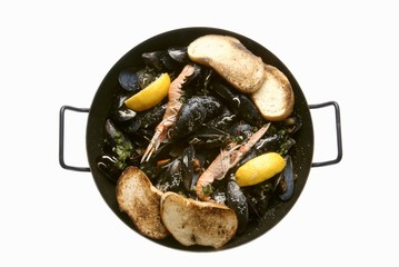 Mussels and scampi, Dalmatian style