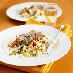 Lamb fillet with couscous