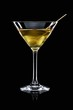 A Manhattan Dry with olive