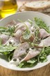 Vitello tonnato with capers and rocket
