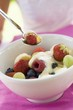 Fruit muesli with yoghurt and honey