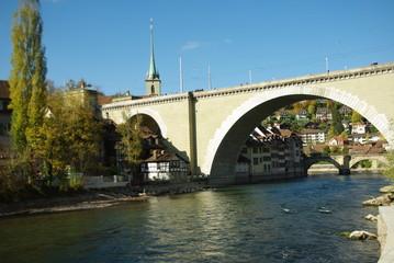 Bern- Blick über die Altstadt und Aare