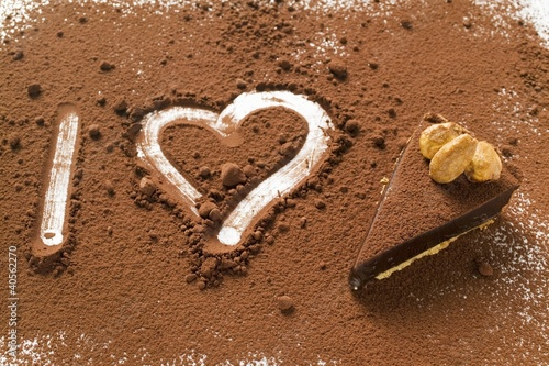 'I heart chocolate tart' (symbolic picture)