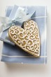 Gingerbread heart with white icing (for Christmas)