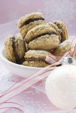Chocolate-filled Christmas biscuits