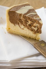 Piece of marble cheesecake (USA)