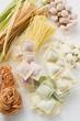 Pasta still life with gnocchi