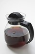 Black coffee in glass jug