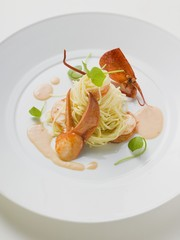 Linguine with lobster