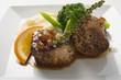 Pork medallions, green peppercorns, broccoli & mashed potato