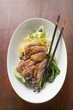 Duck breast on vegetables (Asia)