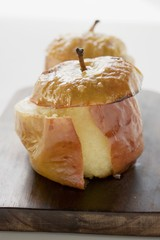 Two baked apples