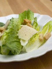 Caesar salad with Parmesan and croutons