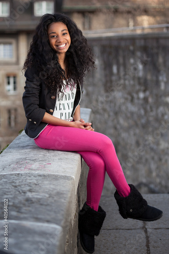 Beautiful african american teenage girl