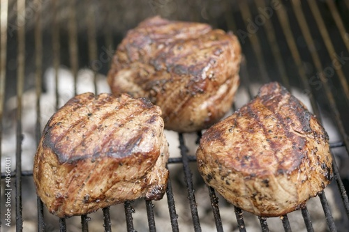 Beef medallion on a barbecue
