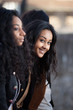 Portrait  of happy young african american teenage girls