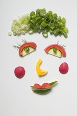 Amusing vegetable face