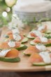 Cucumber slices with smoked salmon & dill cream (Christmas)