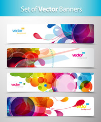 Set of abstract colorful circle illustrations.