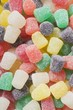 Coloured sugar-coated jelly sweets (full-frame)