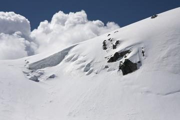 Massive snow on the Alps