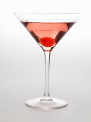 Cosmopolitan with cocktail cherry