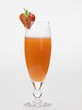 Strawberry and sparkling wine cocktail