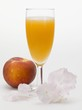 Peach and sparkling wine cocktail