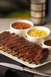 Spare Ribs with Baked Beans and Creamed Corn