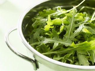 Fresh rocket in bowl