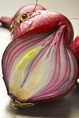 Red onion, halved