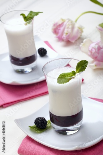 Blackberry Puree with Vanilla Flavoured Buttermilk