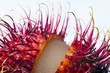 An opened rambutan, close-up