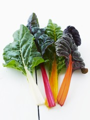 Various types of chard
